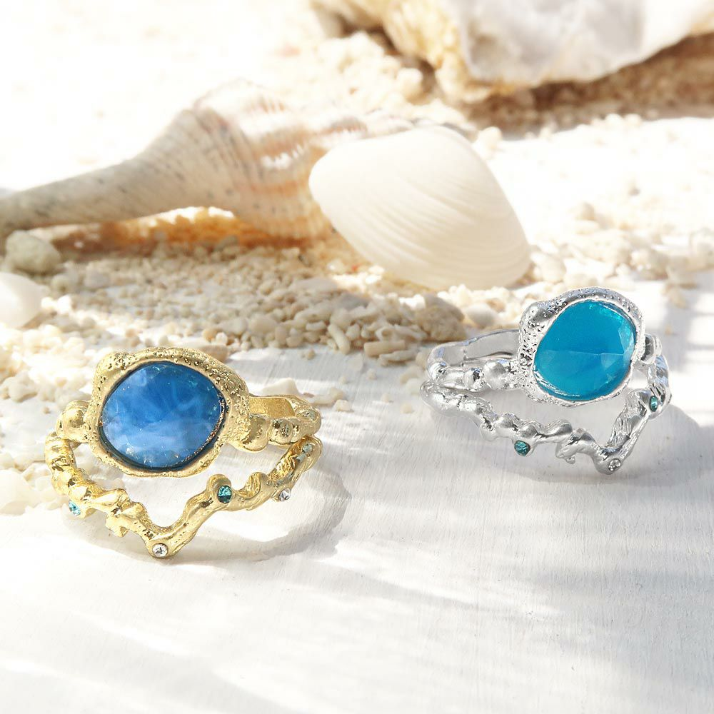 【OLGA】リング ニッケルフリー 波と珊瑚 13号 指輪