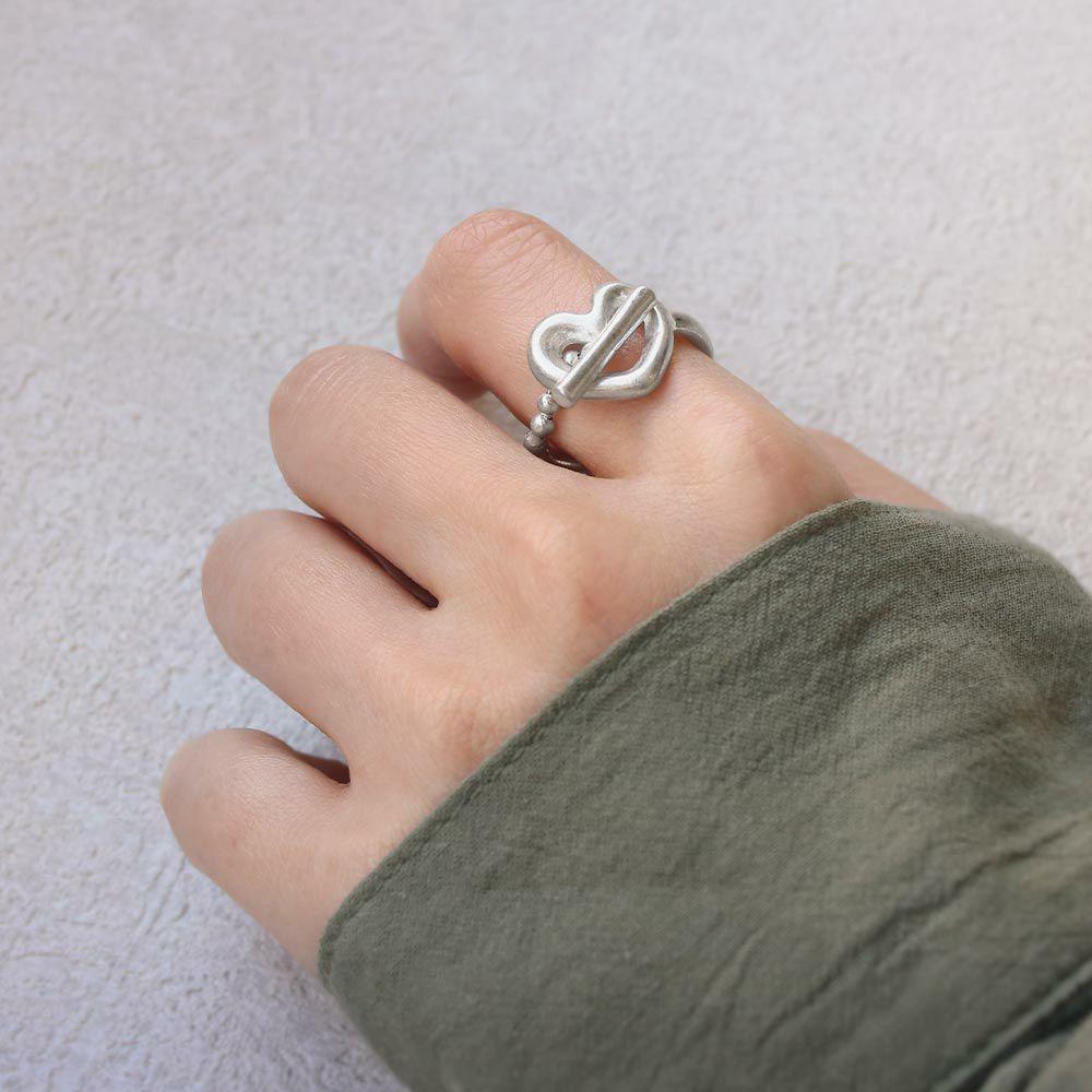 リング ニッケルフリー メタル マンテル ハート 12号 指輪