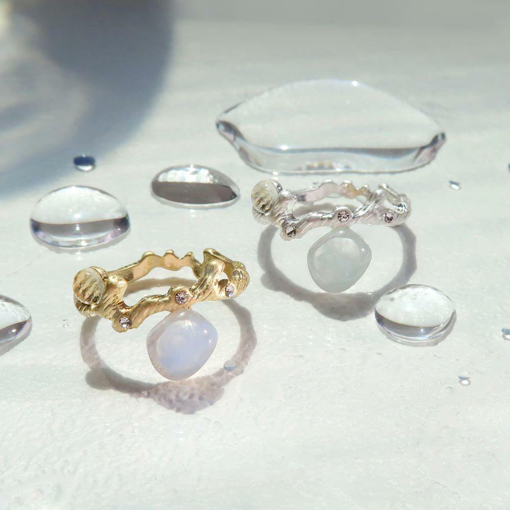【OLGA】clear sea 透き通る海とサンゴ礁 リング ニッケルフリー 13号 指輪
