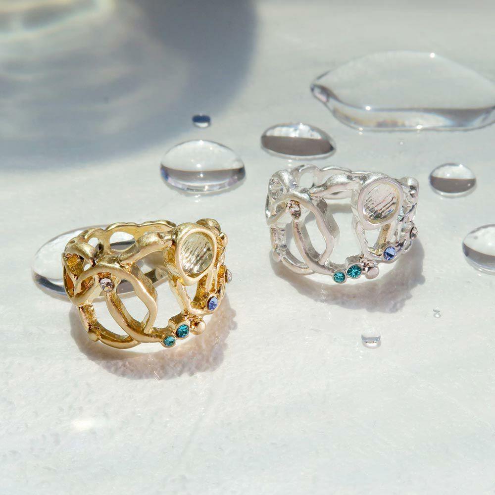【OLGA】clear sea きらめく海の泡 リング ニッケルフリー 13号 指輪